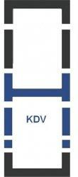 Eindekrahmen Fakro KDV Modul für die Kombination übereinander
