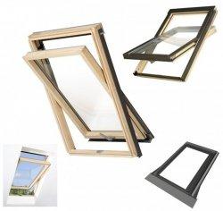 Dachfenster Schwingfenster Optilight B Uw= 1,3 W/m²K aus Holz, Zubehör der Firma Fakro kompatibel
