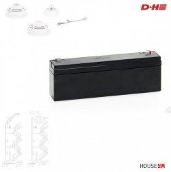 Akku Typ 2 D+H (Einzelpack) für D+H RWA-Zentralen  2,2 Ah