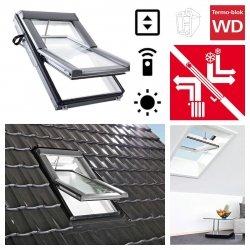 Dachfenster Roto Designo WDT R69G E_ K WD AL Blue tec Uw=1,0 Schwingfenster aus Kunststoff mit Wärmedämmblock 3-fach Verglasung Energiesperende gehärtetes und laminiertes Glas