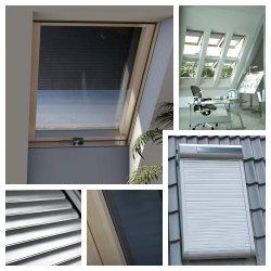 OUTLET: Solar-Außenrollladen Okpol ARZS 78x140 Rollladen mit Solarbatterien von einem Wandschalter betätigt