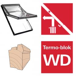 Dachfenster Roto Designo R68C H Schwingfenster aus Holz blueLine Comfort mit Wärmedämmblock