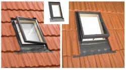 Ausstiegsfenster OMAN VENTO DUALFIT 45x55 45x73 Zwei Arten des Öffnens: oben oder rechts Dachluk für ungeheizte Räume