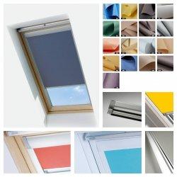 Sichtschutzrollo ESSENTIALS für Keylite Dachfenster in Führungen
