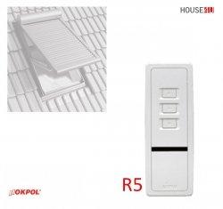 Fernbedienung Okpol RS5 Funkfernsteuerun 5-Kanal-Fernbedienung für Solar-Außenrollladen RZS1
