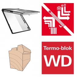 Dachfenster Roto R89P H200 (WDF R89P H WD) Uw: 0,80 Klapp-Schwingfenster aus Holz blueTec Plus mit Wärmedämmblock