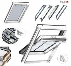 Dachfenster Kombi-Pakete THERMO Velux GGU SD0J4 Schwingfenster GGU 0070 + Eindeckrahmen EDJ 2000 mit Thermische Isolationsset