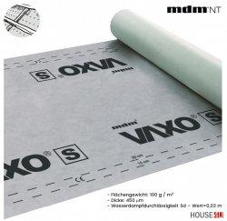 MDM® Vaxo S Dachbahnen - Unterspannbahnen Flächengewicht: 100 g / m2 und einer Dicke von 450 µm, Wasserdampfdurchlässigkeit Sd – Wert=0,03 m