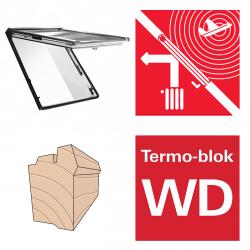 Dachfenster Roto R86E H200 (WDF R86E H WD} Klapp-Schwingfenster aus Holz acusticLine NE mit Wärmedämmblock