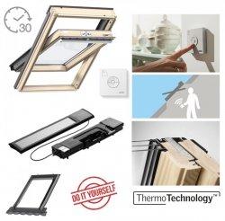 VELUX INTEGRA® Dachfenster Solarfenster GLL 1061 3-fach satz Schwingfenster – Solar Automatische Fenstern satz DIY - Mach es selbst GLL / EDZ / KSX 100K  Solar-Nachrüst-Set  - io-homecontrol System