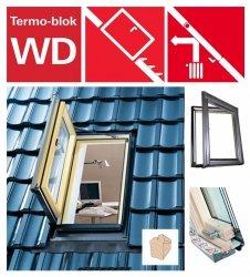 Designo R3 Wohndachausstieg Ausstiegsfenster Roto WDA R35 H AL_ WD aus Holz für nutzräume mit Wärmedämmblock, für gedämmte Dachräume