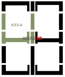 Eindeckrahmen Fakro KXV-4 Modul für die Kombination übereinander