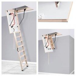 Bodentreppe Holztreppe OMAN LONG EXTRA zu hohen Räumen bis 330 cm  Ud: 0,85 W/m2*K