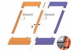 Eindeckrahmen Velux EKJ 0021E Für flache und profilierte Eindeckmaterialien