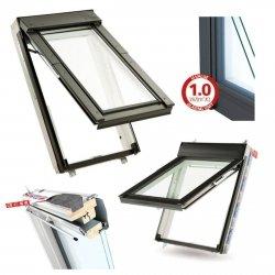 Dachfenster Keylite Polar Klapp-Schwingfenster FT FE ATG Uw=1,1 weiß 3-Fach Verglasung Fluchtwegsfenster 0 – 45 ̊ offen,