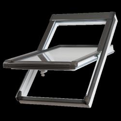 OUTLET: Dachfenster Okpol VGO E2 114x118 VGO E2 (PVC) Uw= 1,4 Schwingfenster Kunstoffenster PVC Profile in Weiß
