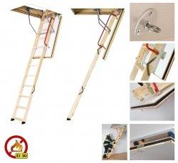 Bodentreppe FAKRO LWF Uw=0,6 W/m²K feuerhemmendtreppe aus Holz