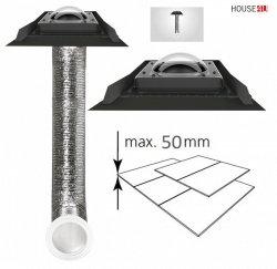 Tageslicht-Spot FAKRO SFD-S 350 550 mit flexiblem Rohr für Flachdachmaterialien (2x25mm)