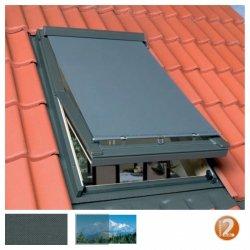 Netzmarkise OptiSol AOM Hitzeschutz-Markise mit Bedienstange für Fakro und Optilight Dachfenster