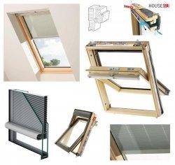 Dachfenster Keylite TCP INTEGRAL Schwingfenster mit INTEGIERTES Rollo 2in1 Holz 2-fach-Verglasung Uw= 1,3