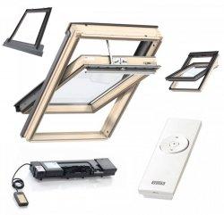 Automatishe-Dachfenster-set Velux GZL 1051 2-fach-Verglasung Holz Fenster Eindeckrahmen EDZ 0000 INTEGRA® KMG 110K KUX 110*