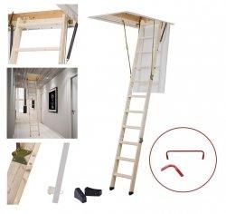 Bodentreppe DOLLE SW 26 ClickFix® U=1,35Gold aus Holz Dachbodentreppe Stiege Klapp