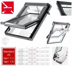 Roto Dachfenster Q4 Tronic QT4 K2S P5E Kunststoff Schwingfenster Elektrisch Standard 2-fach Verglasung Uw-Wert: 1,1 Standard Aluminium