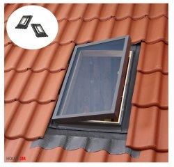 Ausstiegsfenster VELUX VELTA VLT 025 45X55, Dachluke links und rechts, Skylight für unbeheizte Räume, Dachausstiegsfenster,  Drehfenster, Skylight für unbeheizte Räume,  Kaltraumfenster, Eindeckrahmen integriert mit Ausgangsfenster