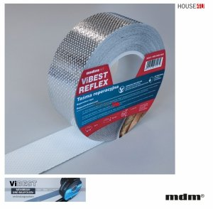 """MDM® ViBEST REFLEX Reparaturband speziell für Dampfsperrfolien vom Typ """"Reflex"""", 50mm x 25m PP-Spinnvlies, ViBEST Klebebaender Unterdeck-Unterspann<br />bahnen"""