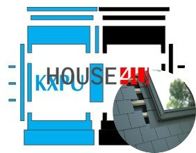 Kombi-Eindeckrahmen Okpol KXPL für flache Biberschwanzeindeckungen www.house-4u.eu