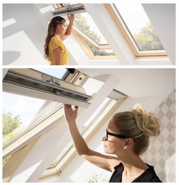 """VELUX Dachfenster GZL 1051 INTEGRA® Elektrofenster satz, incl. KMG 100K, GZL 2-Fach Schwingfenster, Elektrisch Automatische Fenstern satz DIY """"Mach es selbst"""" io-homecontrol System"""