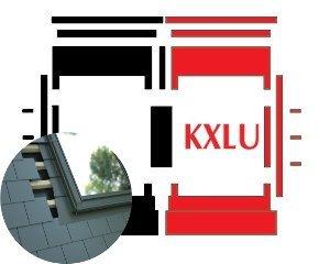 Kombi-Eindeckrahmen Okpol KXLL für flache Biberschwanzeindeckungen www.house-4u.eu