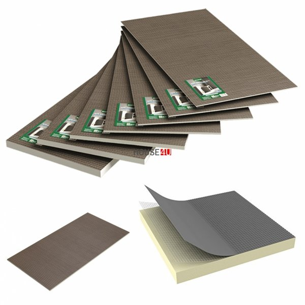 Bauplatte Ultrament Do-it 120 x 60 cm Stärke: 20 mm Trockenbau XPS Glasfasergewebe, Schimmelresistent & Wasserresistent, Extrem leicht, für die Anwendung im Innen- und Außenbereich, Wedi Byggeplade Kreativbauplatte