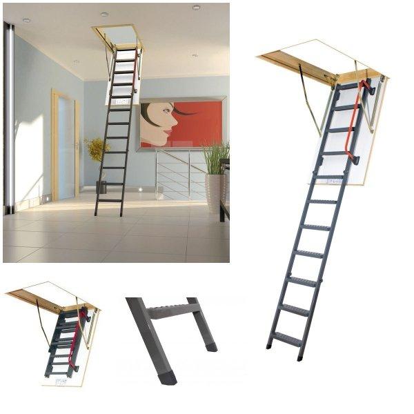 Bodenteppe FAKRO LMK Mehrteilige Bodentreppe mit Metallleiter U=1,1 W/m²K www.house-4u.eu