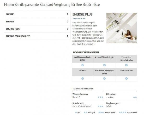 Dachfenster Velux GPL 3066 ENERGY-STAR das Holzfenster mit dem Riesen-Öffnungswinkel www.house-4u.de