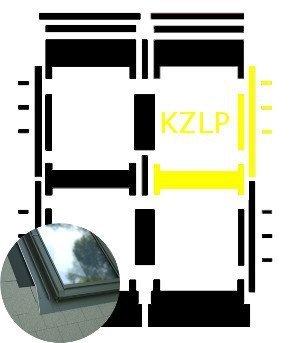 Kombi-Eindeckrahmen Okpol KZLP für Flache Eindeckmaterialen www.house-4u.eu