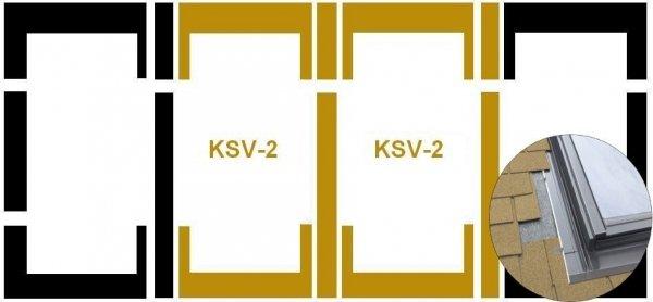 Eindeckrahmen Fakro KSV-2 Modul für die Kombination übereinander für flache Eindeckmaterialien www.house-4u.eu