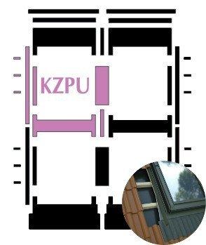 Kombi-Eindeckrahmen Okpol KZPH für flache hochprofilierte eindeckmaterialen www.house-4u.eu