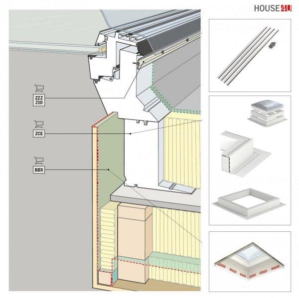 """VELUX FLACHDACH -Fenster """"LichtKuppel"""" Kuppel Matt Acryl  ISD 0100- Typ CFP / CVP / CXP / CSP www.house-4u.de"""