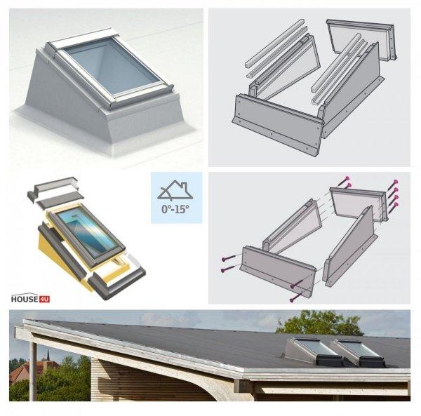 Flachdachfenster VELUX ECX + VELUX Dachfenster Satz manuell/electro/solar Bauen Sie Ihre beste Lösung für Flachdächer