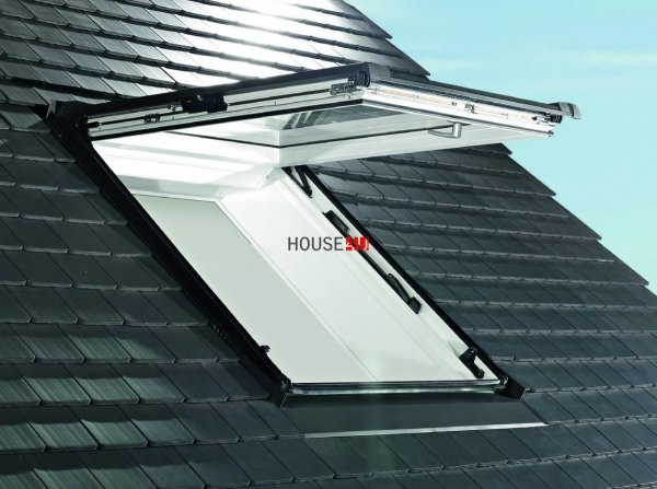 Dachfenster Roto R86E K200 (WDF R86E K WD) Klapp-Schwingfenster aus Kunststoff acusticLine NE mit Wärmedämmblock