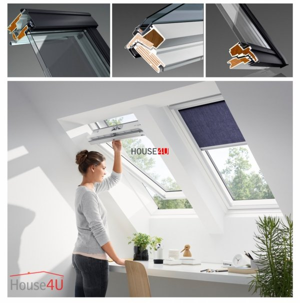 VELUX Dachfenster GGU 0050 Schwingfenster aus Kunststoff Alternative für THERMO-STAR www.house-4u.eu