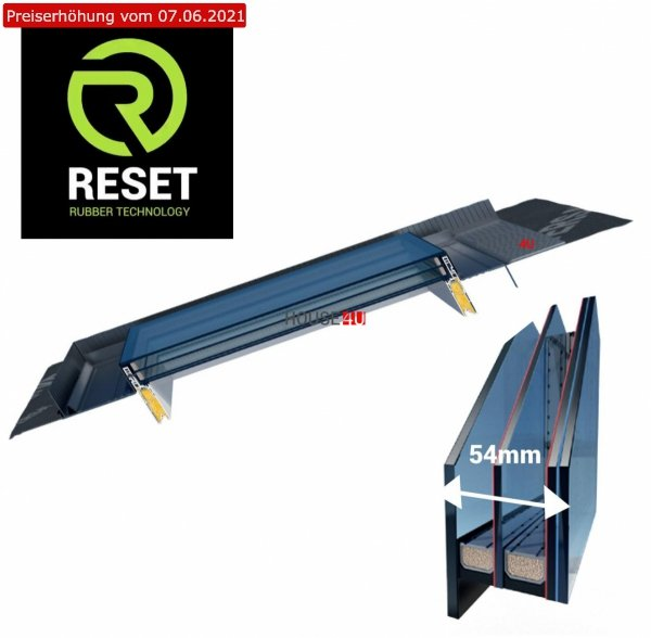 Dachfenster OKPOL IGX F1 78x98 PVC aus Weiß Kunststoff cm 4-FACH VERGLASUNG Uw=0,79 + GUMMIFLANSCH RESET integriert Eindeckrahmen