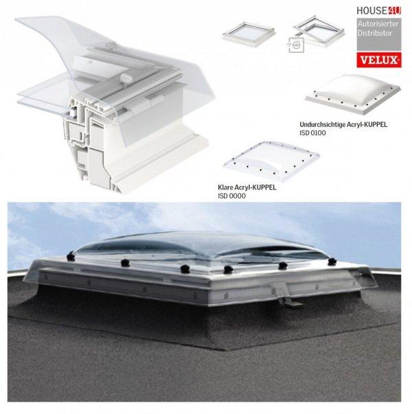 """VELUX Flachdach-Fenster """"LICHTKUPPEL"""" Klarer Transparentes Polycarbonat- ISD 0010-- Typ CFP/CVP/CXP/CSP www.house-4u.de"""