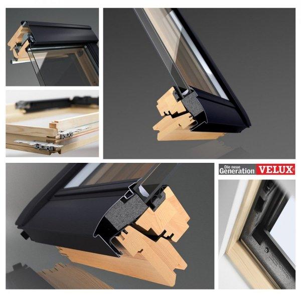 """VELUX INTEGRA® Dachfenster Solarfenster GLL 1061 3-fach satz - """"Mach es selbst"""" - Schwingfenster – aus Holz- Solar Automatische Fenstern - satz DIY - GLL/ EDZ / KSX 100K Solar-Nachrüst-Set"""