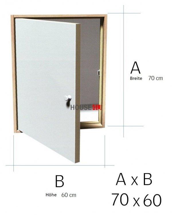 Kniestocktür DK TERMO U Wert=1,2 Drempeltür mit Standard Wärmedämmung OMAN