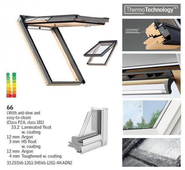 Dachfenster Velux GPL 3066 ENERGY-STAR das Holzfenster mit dem Riesen-Öffnungswinkel www.house-4u.eu