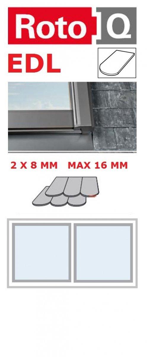 Kombi-Eindeckrahmen Roto Q-4 EDL 2/1 Eindeckrahmen für Flach erstreckt bis zu 1,6 cm www.house-4u.eu