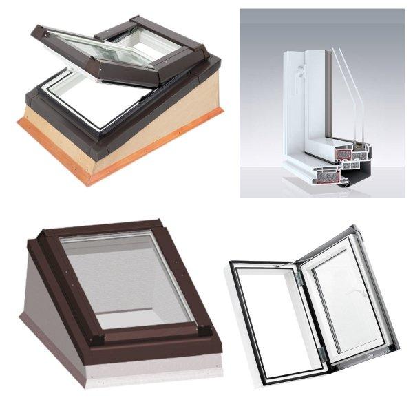 Flachdach-system Dobroplast Ausstiegfenster Loft + Flachdach-Eindeckrahmen