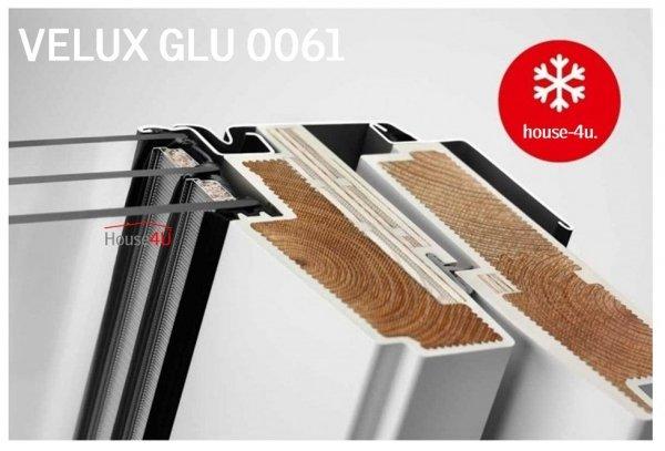 VELUX Dachfenster GLU 0061 3-fach-Verglasung Dachfenster Schwingfenster Kunststoffqualität mit Dauerlüftung